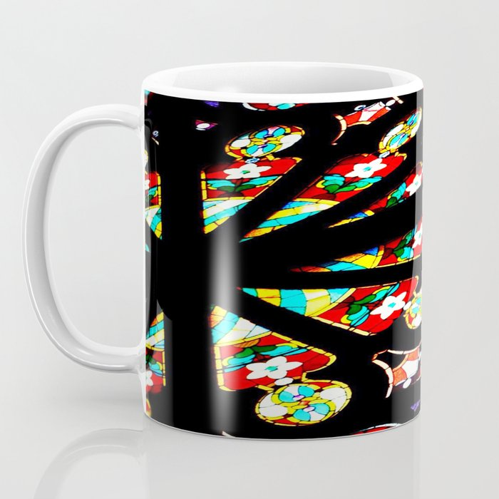 Day 28: Today for Me!  Stained glass from inside the old Unitarian church, in SF. Coffee Mug