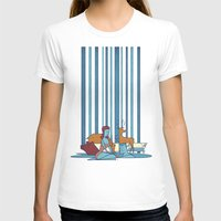 swimming T-shirts featuring SWIMMING POOL by Ale Giorgini