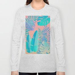 Tropics ( monstera and banana leaf pattern ) Long Sleeve T-shirt