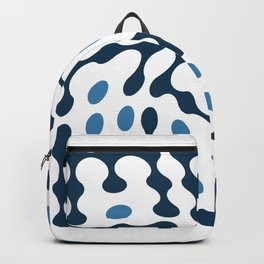 Twisted Metaballs Typography (Blue) Backpack