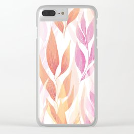 Flowers repeat Clear iPhone Case