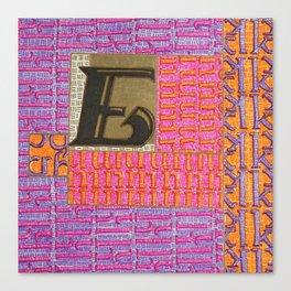 Alpha-Numero: E Canvas Print
