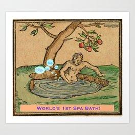 Worlds First Spa! Art Print