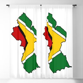 Guyana Map with Guyanese Flag Blackout Curtain