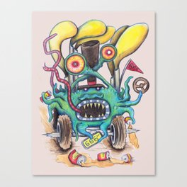 Aussie Road Rage Hoon Monster Canvas Print