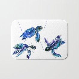 Three Sea Turtles Bath Mat