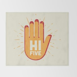 Hi five Throw Blanket