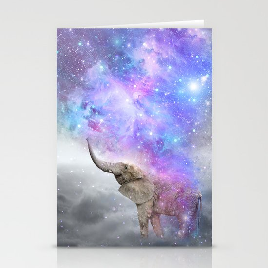 Don't Be Afraid To Dream Big • (Elephant-Size Dreams) Stationery Cards