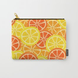 Sliced Lemon Pattern Carry-All Pouch