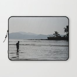 Boy looking for clams Laptop Sleeve