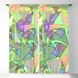 Multi Colored Light Twirling Geometric Blackout Curtain