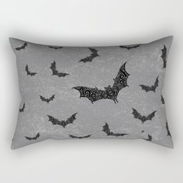 Swirly Bat Swarm Rectangular Pillow