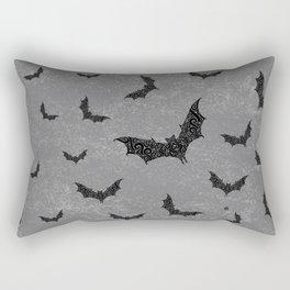 Swirly Bat Swarm Rectangular Pillow