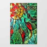 dream catcher Canvas Prints featuring Dream Catcher by BeachStudio