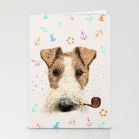 terrier Stationery Cards featuring fox terrier sailor by dogooder