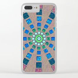 Ethnic wheel Clear iPhone Case