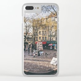 Artists Square in Montmartre, Paris Clear iPhone Case