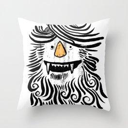 Monstah Throw Pillow