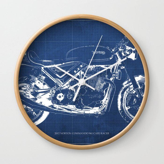 Blueprint norton commando cafe racer original artbike poster wall blueprint norton commando cafe racer original artbike poster wall clock malvernweather Images