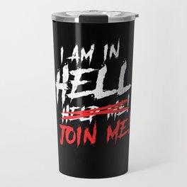 Satan loves me Baphomet Devil 666 In Hell Travel Mug