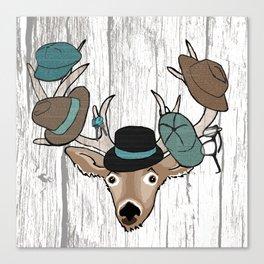 Deer Hat Rack Canvas Print