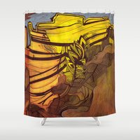 mexico Shower Curtains featuring New Mexico by Stacey Sherman