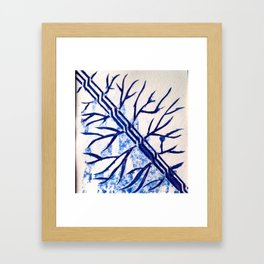 Growth blue Framed Art Print
