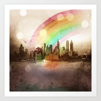 NYC Sky Art Print