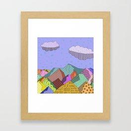 Pattern Landscape Framed Art Print