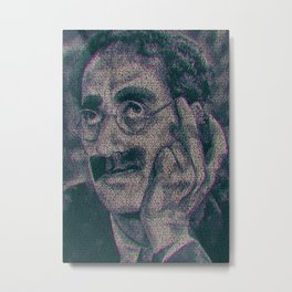 Groucho Marx - Duck Soup Screenplay Print Metal Print