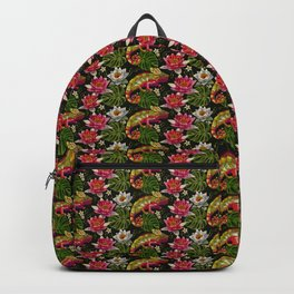 Tropical Chameleon Pattern Backpack
