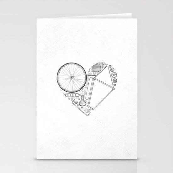 Love Bike (Grey) Stationery Cards