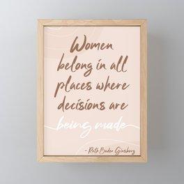 Ruth Bader Ginsburg Quote Framed Mini Art Print
