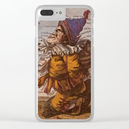 Vintage Illustrative Map of Scotland (1794) Clear iPhone Case
