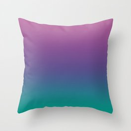 Ombre Ultra Violet Green Pattern | Trendy colors of the year 2018 Throw Pillow