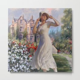 Summer Chateau Metal Print