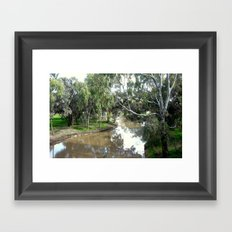On the banks of a River Framed Art Print