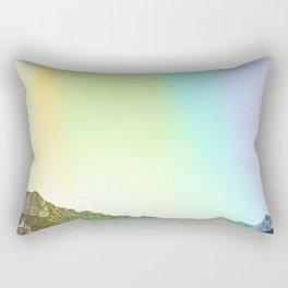 Rainbow Ridge Snow Capped Mountain Range \\ Colorado Landscape Photography \\ B&W Ski Season Art Rectangular Pillow