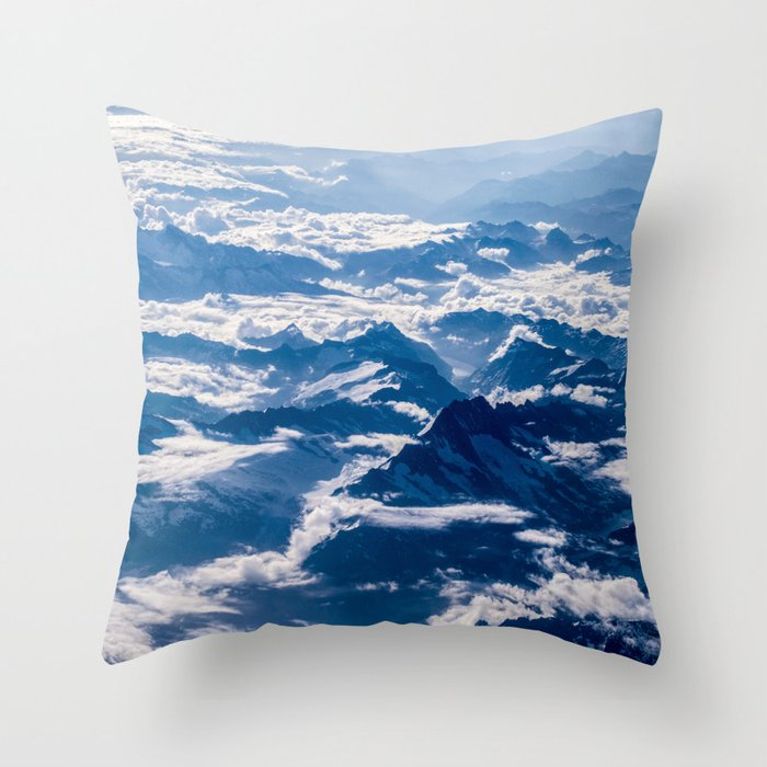 Misty Mountains Below Throw Pillow