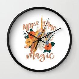 Make Some Magic Boho Unicorn  Wall Clock