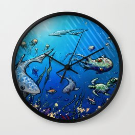 Unda da Sea Wall Clock