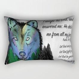 Sky wolf - Psalm 34, 4 Rectangular Pillow