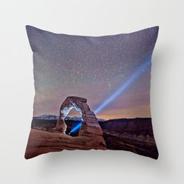 Starry Night Pointer Throw Pillow