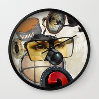 industrial Wall Clocks featuring industrial existence by Vin Zzep
