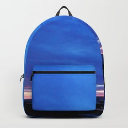 Cloudy Day Sunset on the Sea Backpack