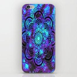 Mandala : Bright Violet & Teal Galaxy 2 iPhone Skin