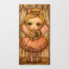 The Bunny And The Ballerina Canvas Print