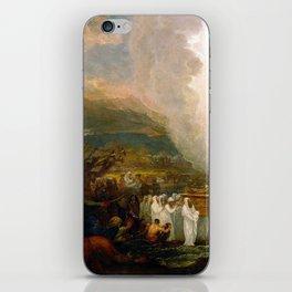 Benjamin West Joshua passing the River Jordan with the Ark of the Covenant iPhone Skin
