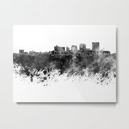 Dayton skyline in black watercolor on white background Metal Print
