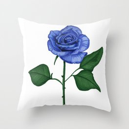 Blue Rose, Single Throw Pillow